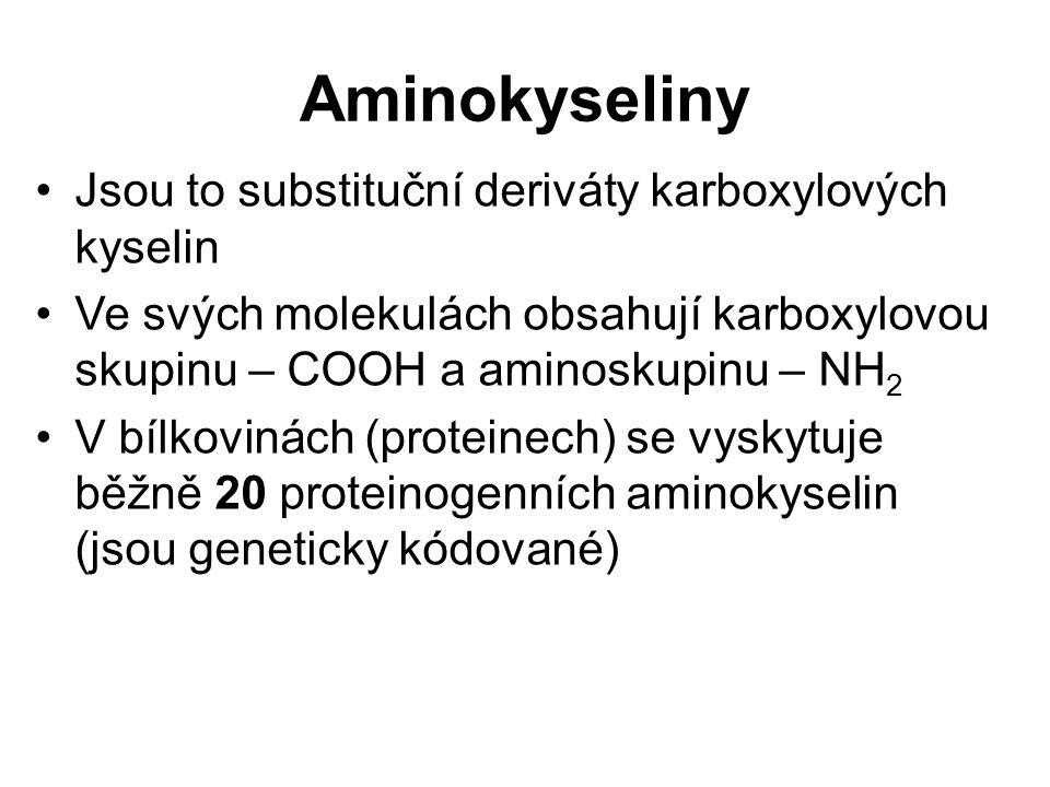 Esenciální aminokyseliny (nepostradatelné) si lidské tělo nedokáže syntetizovat a musí je přijímat v potravě; jsou to např.
