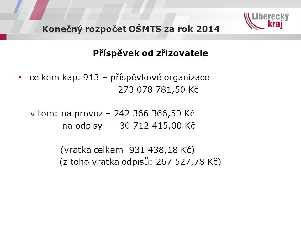 Čerpání kapitálových výdajů 2014  kap.