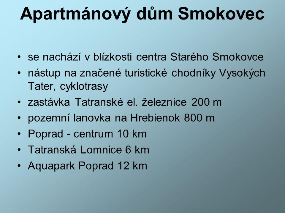 STARÝ SMOKOVEC Železničná stanica Starý Smokovec leží na trati TEŽ č.