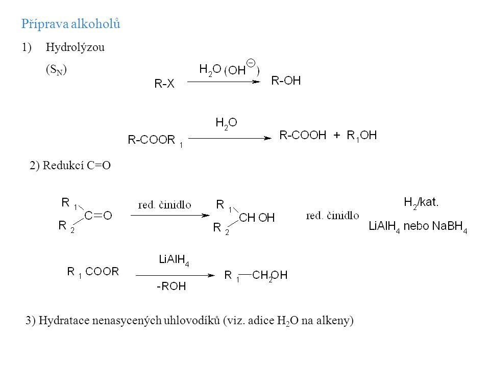 4) Reakce Grignardových sloučenin s karbonylovými sloučeninami Mechanizmus: