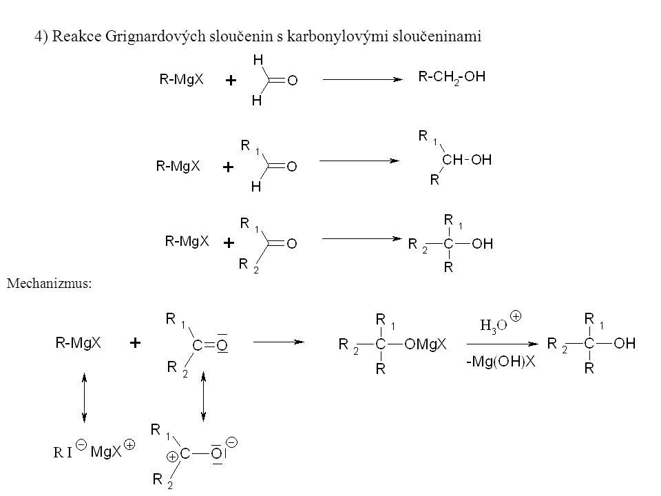 Fyzikální vlastnosti tvorba vodíkových vazeb:- vysoký bod varu (není žádný plynný alkohol, od C 12 pevné látky) - do C 3 s vodou neomezeně mísitelné (převažuje polární charakter OH skupiny), od C 12 nerozpustné (převažuje nepolární charakter uhlovodíkového zbytku) (Rozpustnost ve vodě i bod varu se počtem OH skupin se zvyšuje) Acidobazické vlastnosti: slabé kyseliny a slabé báze Chemické vlastnosti