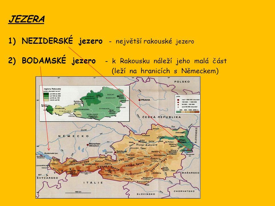 V Rakousku se pěstují : obiloviny ovoce, zelenina vinná réva Zemědělským plodinám se daří především ve východní části země.