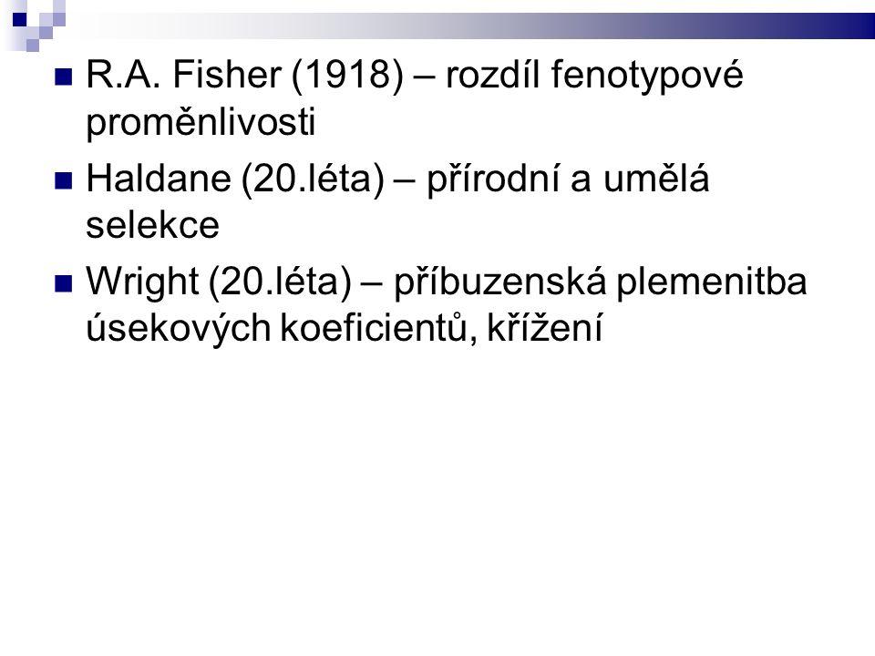 Vývoj teorie šlechtění HZ Lush (30.-40.léta) vyšel z prací Fishera a Wrighta Jako první formuloval h²; proměnlivost prostřeďovou a genetickou Odhady PH Teorie selekčních indexů