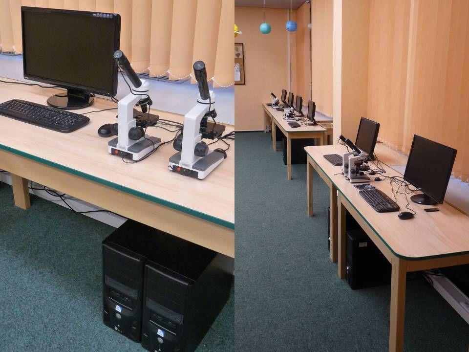 1x interaktivní tabule s ozvučením 1x učitelská PC stanice Software pro výuku na interaktivní tabuli Zatemnění oken Jazyková učebna 2.