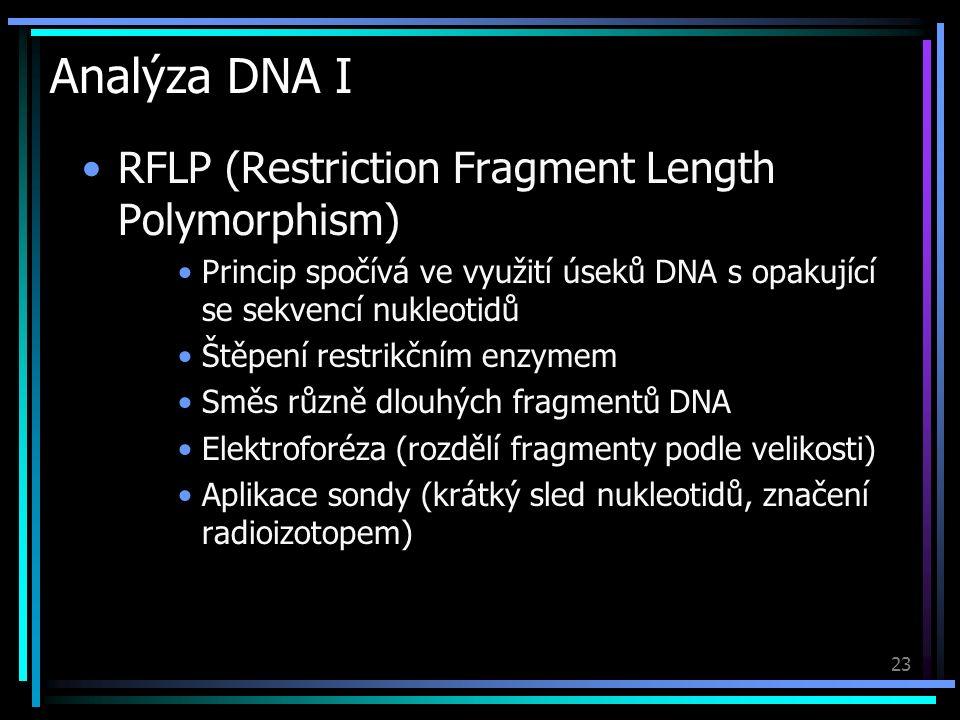 24 Analýza DNA II Užití metody DNA-fingerprintingu při identifikaci osob S1, S2 – podezřelí; E - důkaz