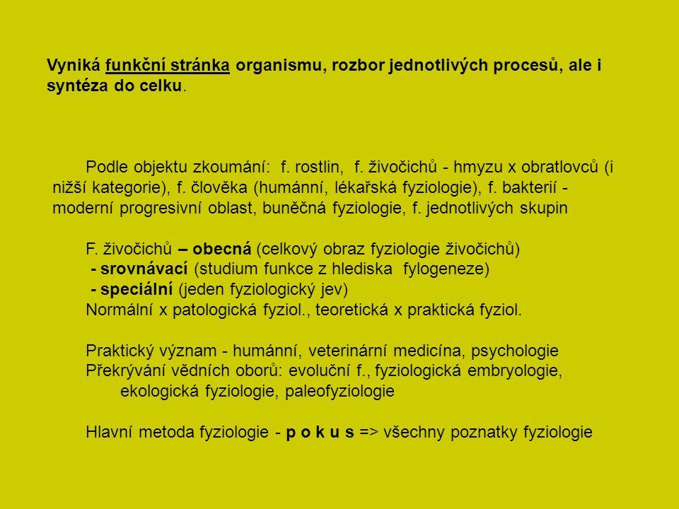 Počátek fyziologických výzkumů - 2.pol. 18. stol.