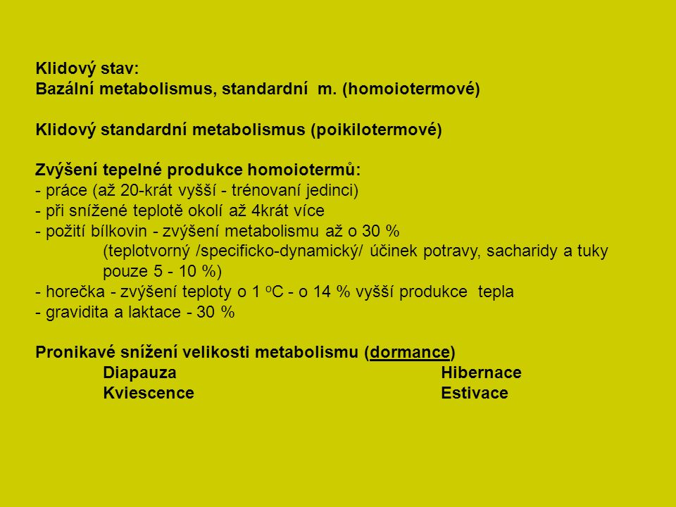 Dělení živočichů podle typu přijímané potravy (B + T +C) (všežravci: 15 + 30 + 55 % = 100 + 100 + 180 g) Masožravci, býložravci - zvláštnosti) Využitelnost živin Princip izodynamie živin – minimální podíl cukrů (10 %) - esenciální MK (20 – 30 mg) - esenciální aminokyseliny (6 – 12 g)