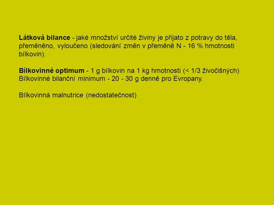 Vitamíny - látky, které si organismus nedovede syntetizovat.
