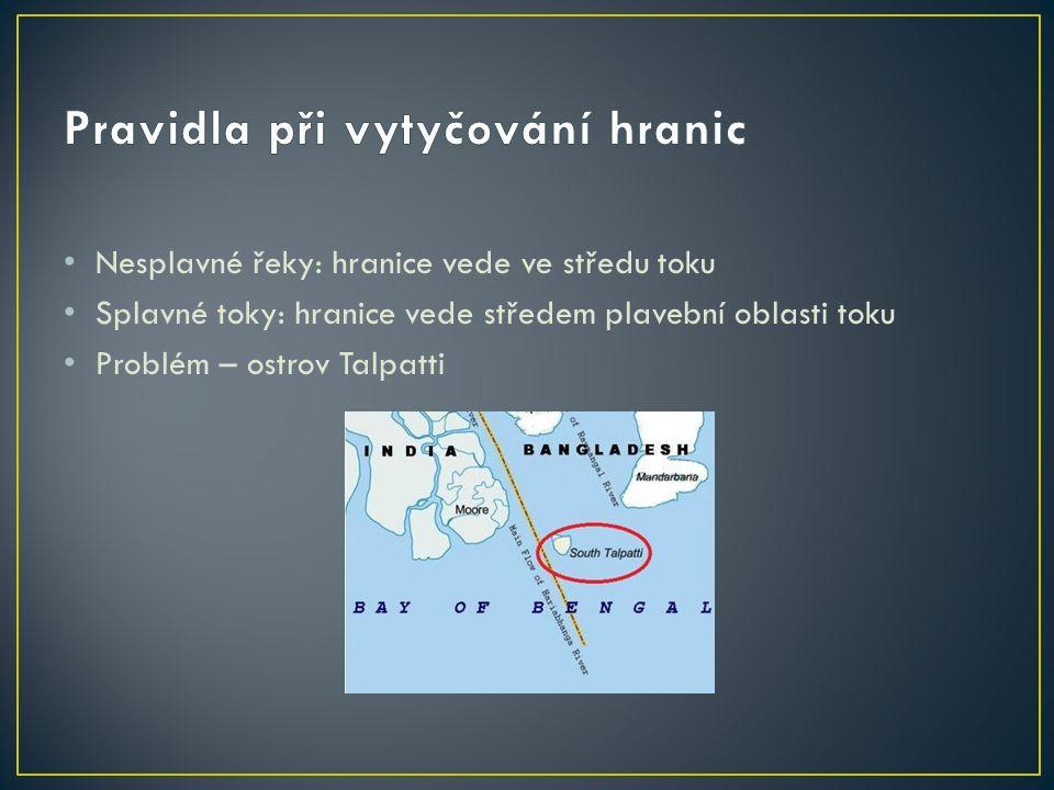 jezera: hranice vede po ekvidistantě Problém: Kaspické moře pohoří: hranice vede po rozvodnici