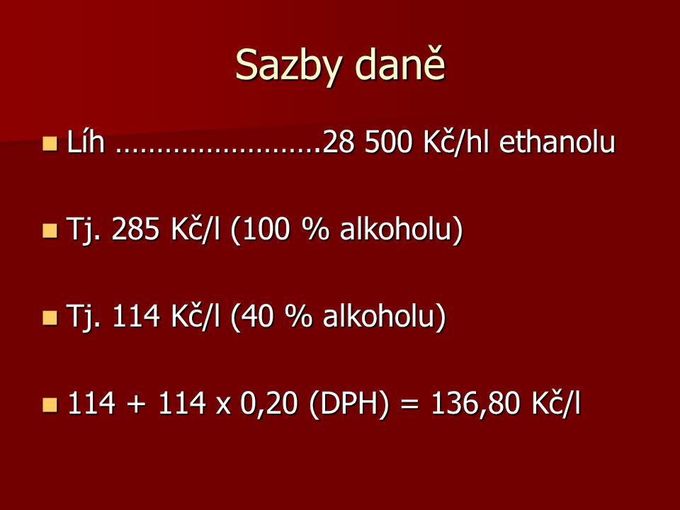 Šumivá vína ………………….2 340 Kč/hl Šumivá vína ………………….