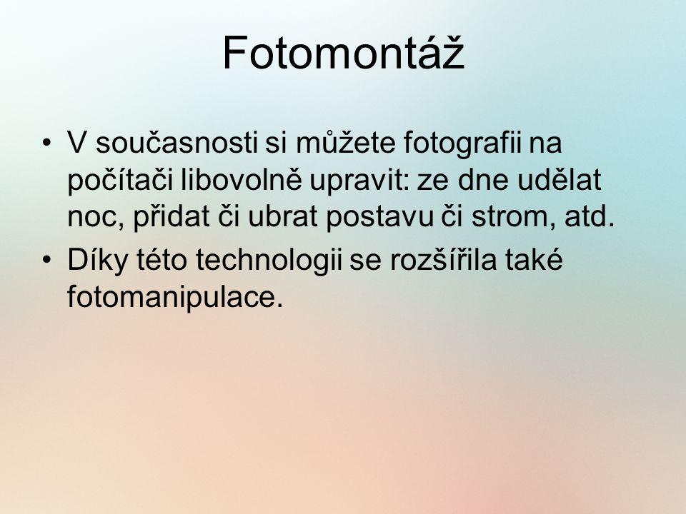 Příklady fotomontáže Datum pořízení: 21.3.