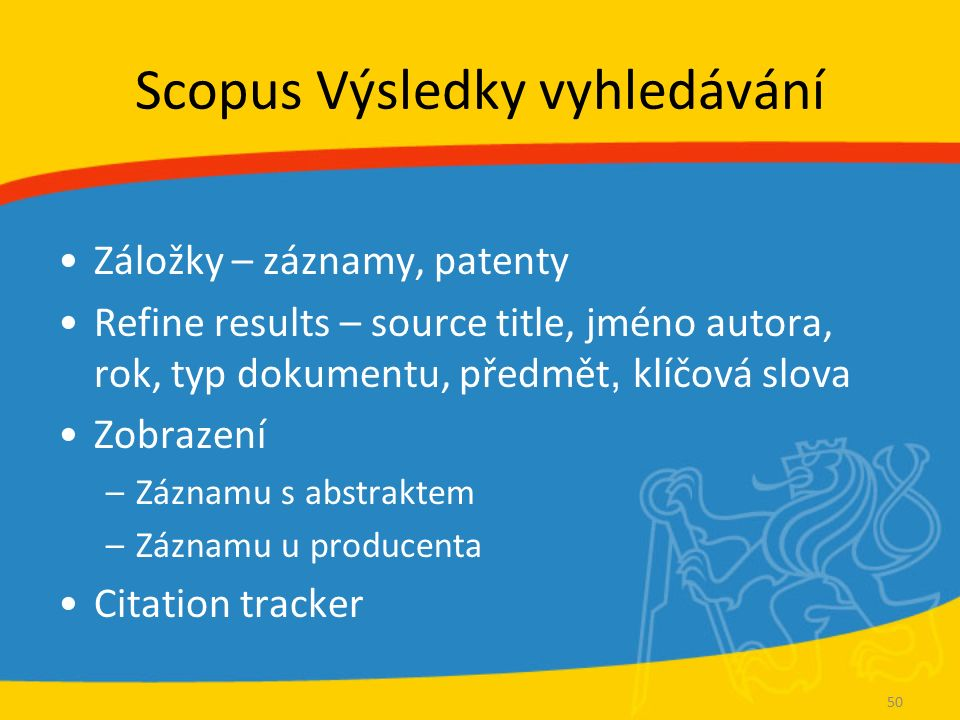 Scopus Záznam článku View at publisher – propojení na plný text.