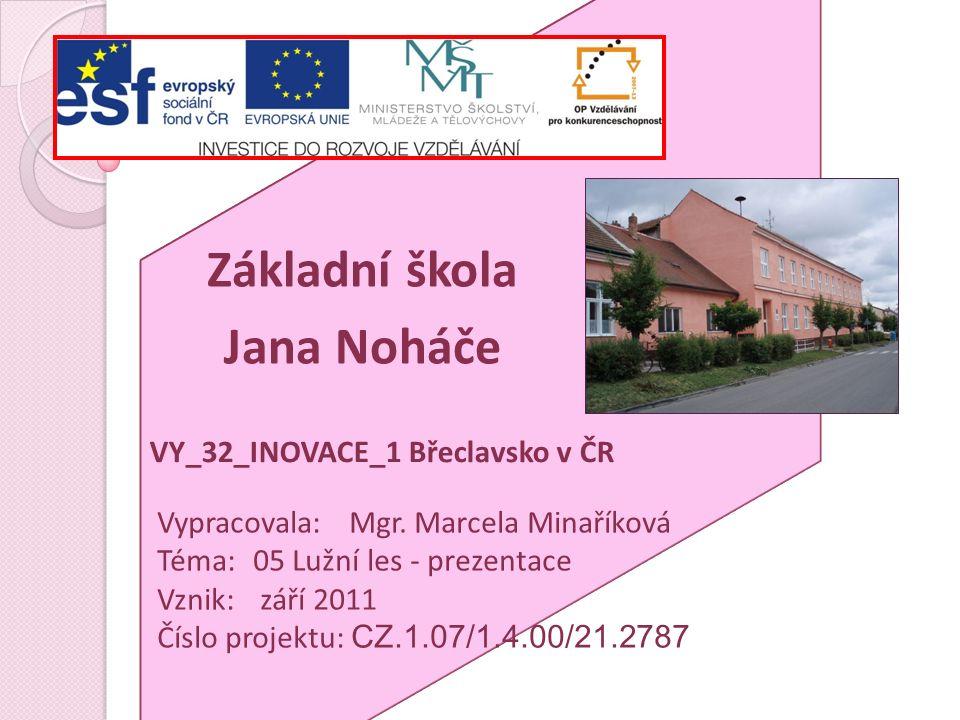 Anotace prezentace o části Břeclavského regionu – Lužní les – učivo ČJS pro 3.