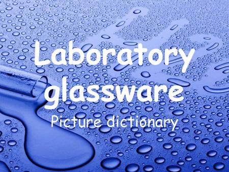 Laboratory glassware Picture dictionary. Desiccator.