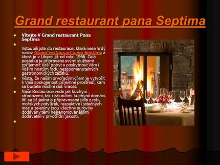 Grand restaurant pana Septima