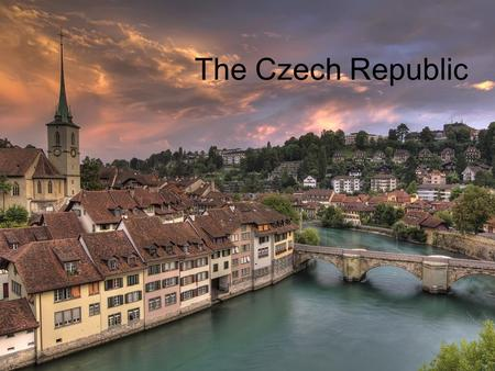 The Czech Republic. Central Europe Bordered by Germany (notrhwest), Poland (northeast), Slovakia (east), Austria (south) Historical territories: Bohemia,