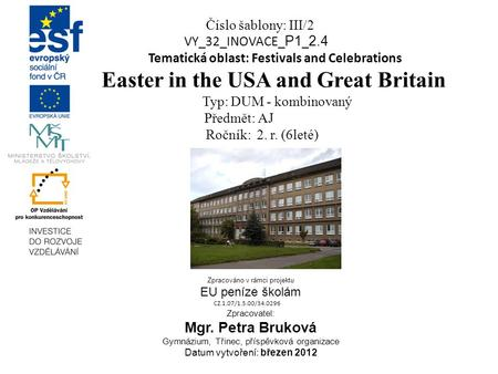 Easter in the USA and Great Britain