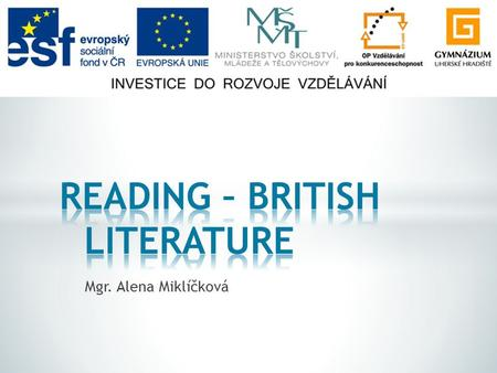 READING – BRITISH LITERATURE