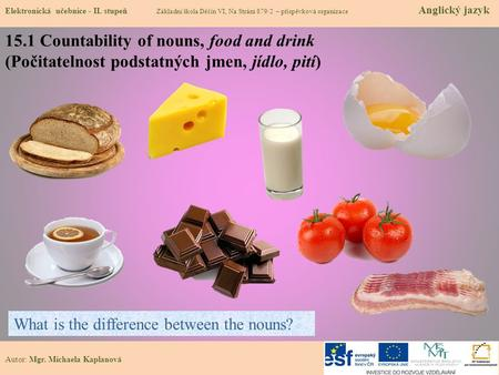 15.1 Countability of nouns, food and drink