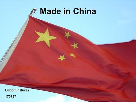 Made in China Lubomír Bureš 173737.
