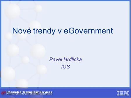 Nové trendy v eGovernment