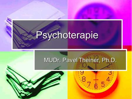Psychoterapie MUDr. Pavel Theiner, Ph.D..