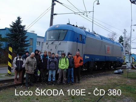 Loco ŠKODA 109E - ČD 380. Technical parameters of 109E.