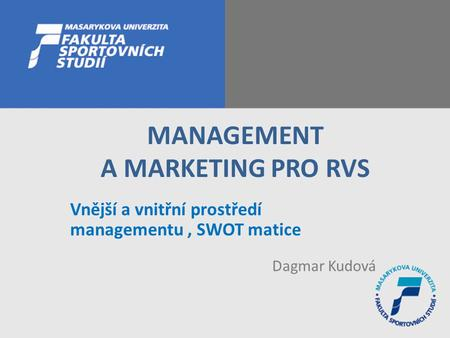 MANAGEMENT A MARKETING PRO RVS