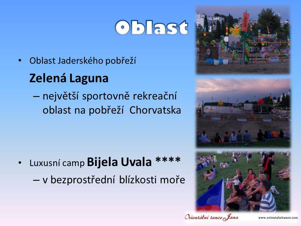 • Oblast Jaderského pobřeží Zelená Laguna – největší sportovně rekreační oblast na pobřeží Chorvatska • Luxusní camp Bijela Uvala **** – v bezprostřední blízkosti moře
