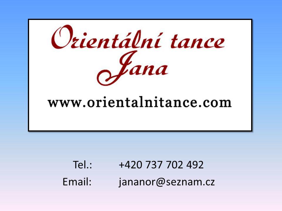 Tel.:+420 737 702 492 Email:jananor@seznam.cz