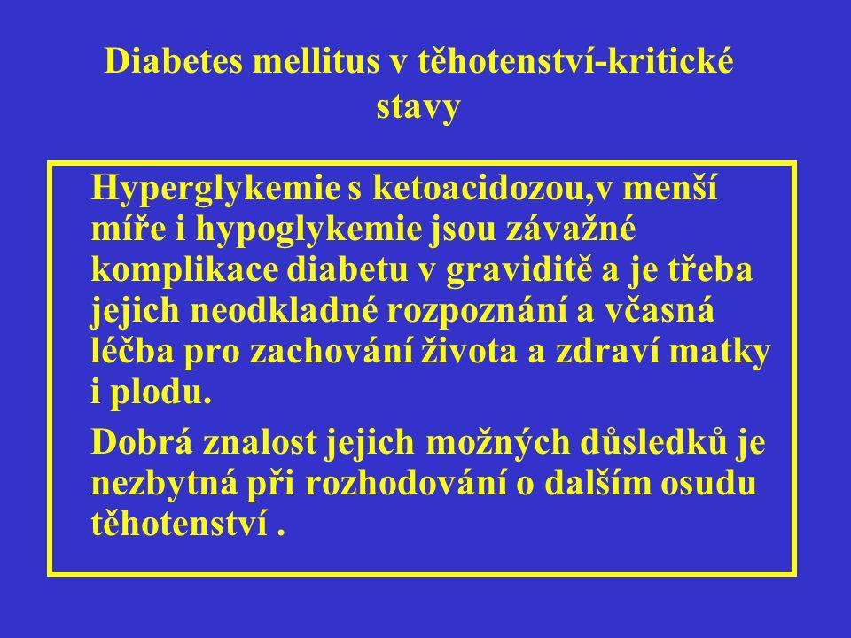 Diabetes mellitus v těhotenství-kritické stavy Děkuji za pozornost