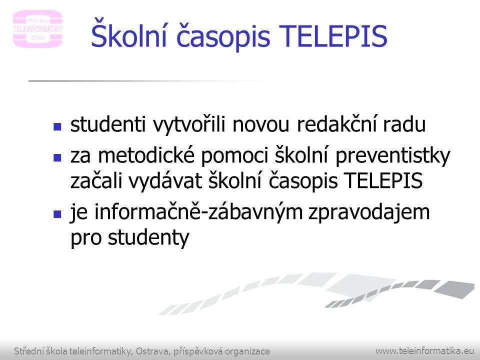 Střední škola teleinformatiky, Ostrava, příspěvková organizace www.teleinformatika.eu Dny otevřených dveří  11.11.2011 9 00 - 18 00 hod.