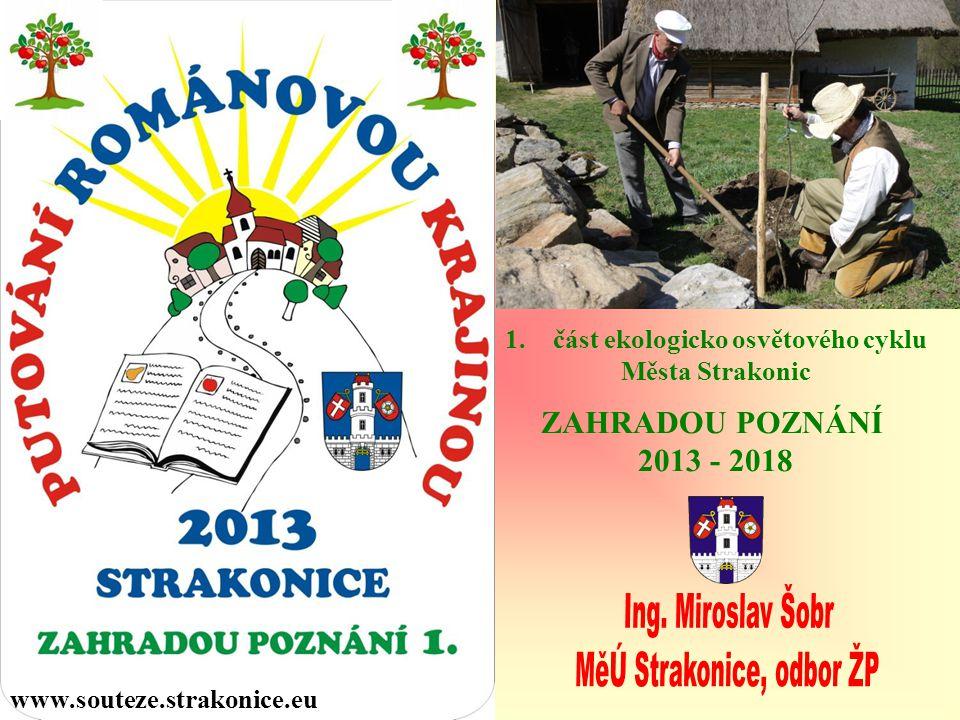 Město Strakonice realizovalo v letech 2003 až 2012 celkem jedenáct dlouhodobých ekologicko osvětových projektů, věnujících se jednotlivým složkám životního prostředí v přírodně kulturně historických souvislostech.