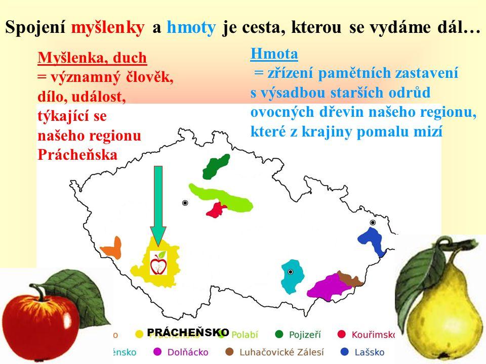 A tak vzniká cyklus poznávacích ekologicko osvětových projektů, ZAHRADOU POZNÁNÍ, přibližující formou pamětních zastavení s výsadbami starších odrůd ovocných dřevin, významné osobnosti, případně události regionu Prácheňska.