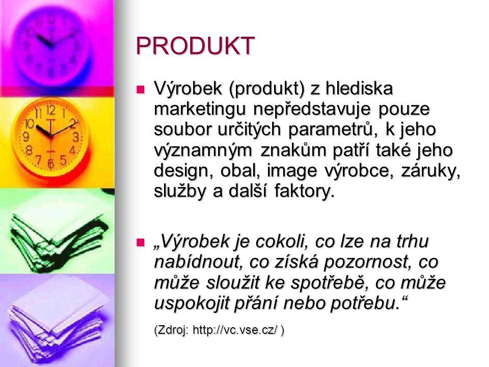 Charakteristika produktu – koncepce totálního výrobku (Zdroj: http://st.vse.cz/~XHAVK12/Produkt.htm)