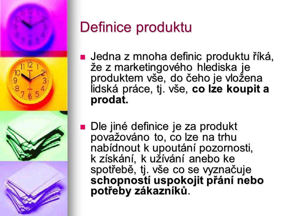 Úroveň výrobků  Objektem zájmu na trhu není samotný výrobek, ale uspokojení zákazníka v určitém směru.