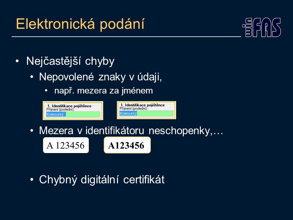 Hromadné označení •Všechny e-podání na ČSSZ lze hromadně označit –Tl. Připrav hrom.