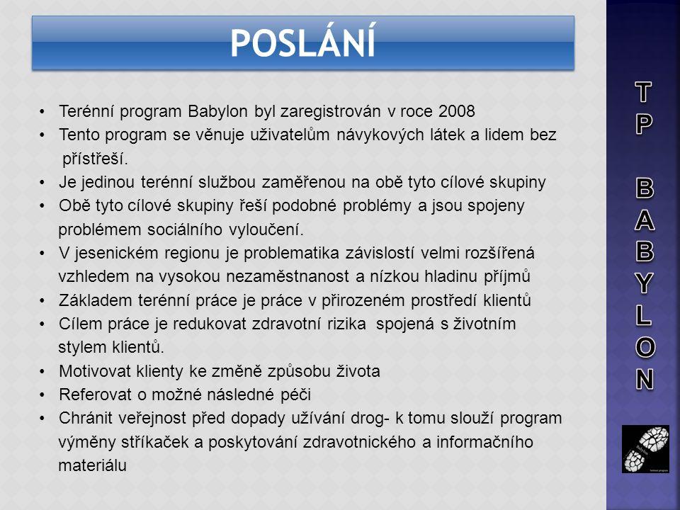 Kontaktní místa Kontaktní práce v terénu probíhá v přirozeném prostředí uživatelů na území města Jeseníka, Javorníka, Zlatých Hor včetně dalších několika obcí.