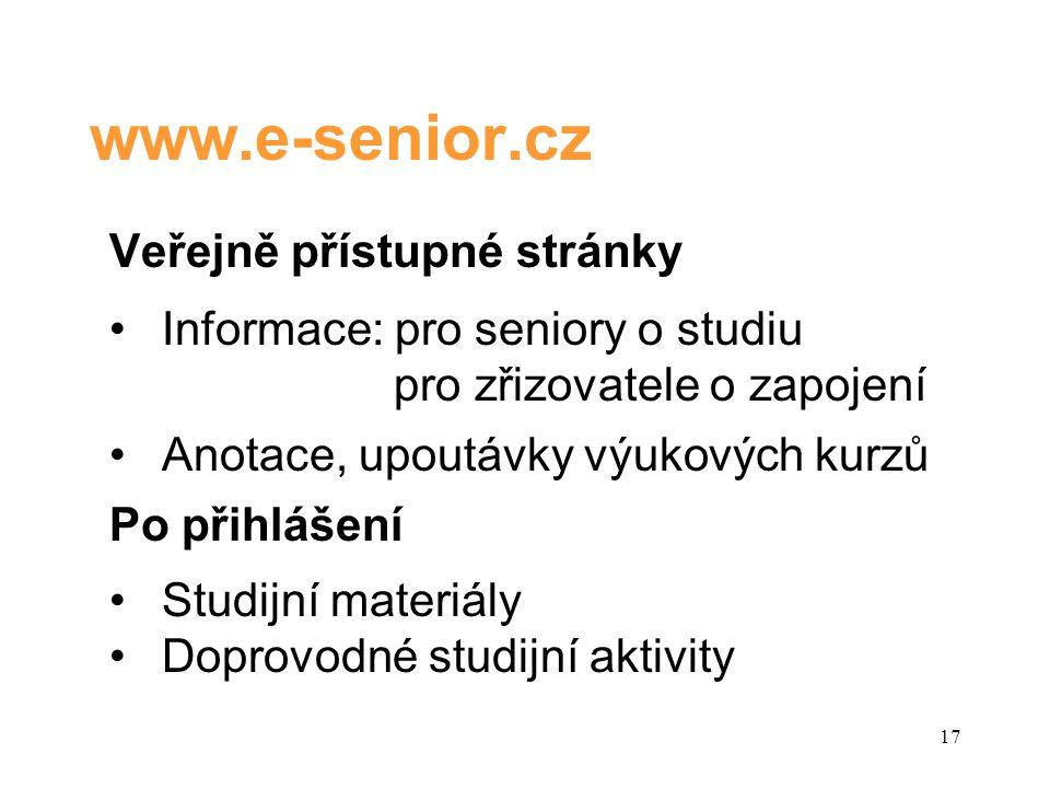 Kdo může studovat •Osoba se statutem seniora •Invalidní důchodce bez rozdílu věku •Osoby kategorie 50 + (nezaměstnaní, osoby čekající na přiznání důchodu) 18