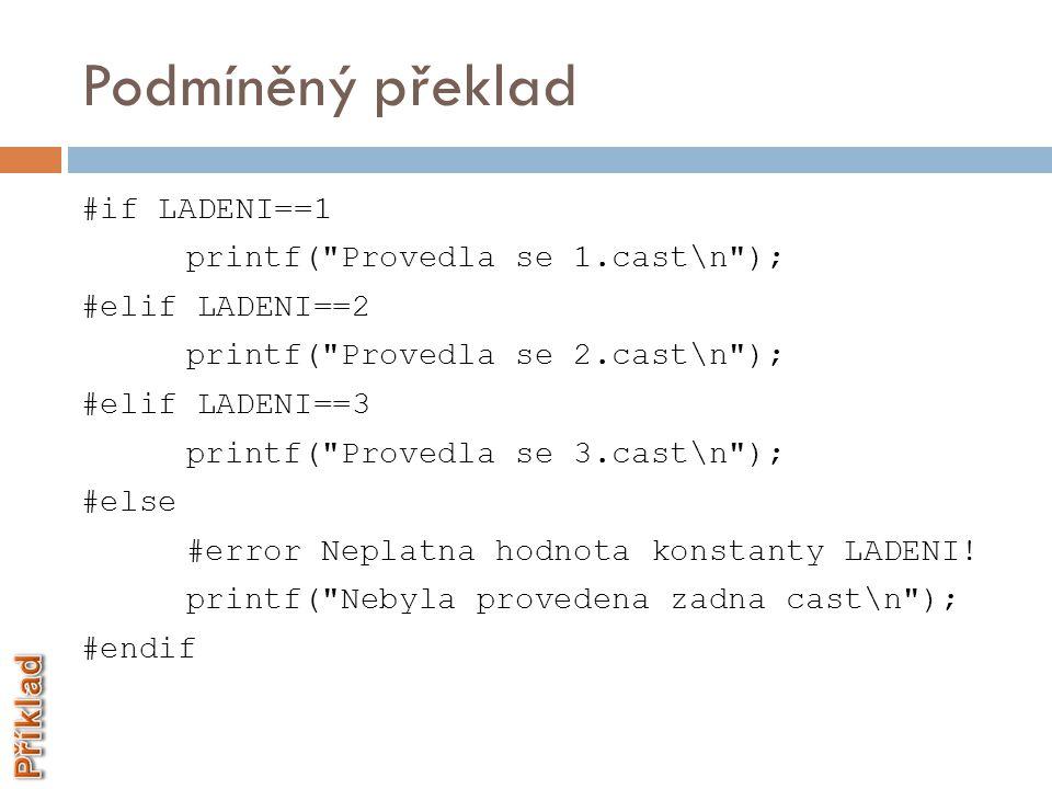 A1PCJ-s 07.Preprocesor Děkuji za pozornost Ing.