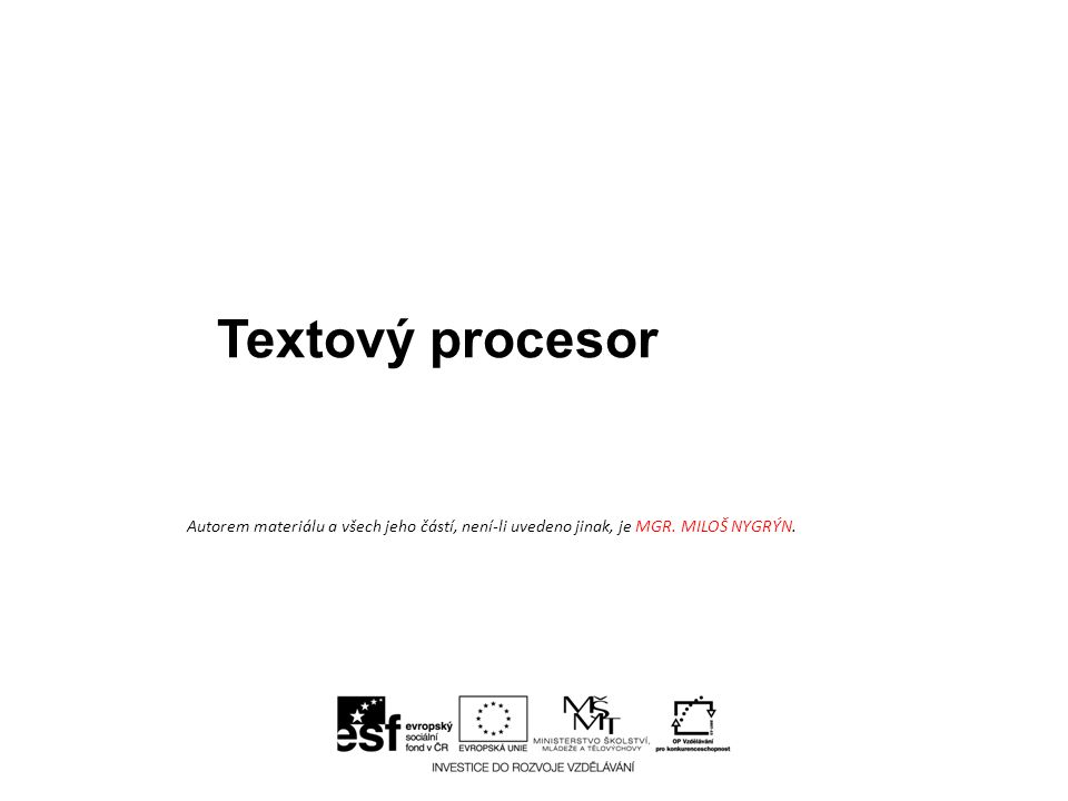 Typografická pravidla Význam a použití: • pravidla pro psaný text • typografie je sazba • české typografické zvyklosti
