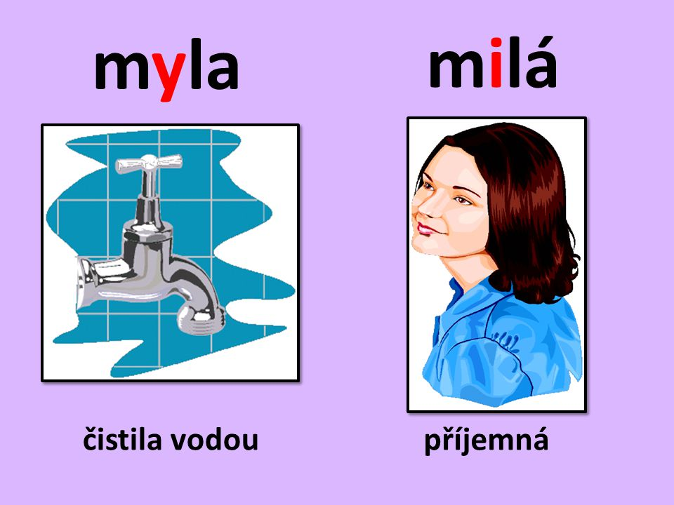 Doplňte y, ý/i, í a věty napište do sešitu.• Celý den m_la špinavá okna.