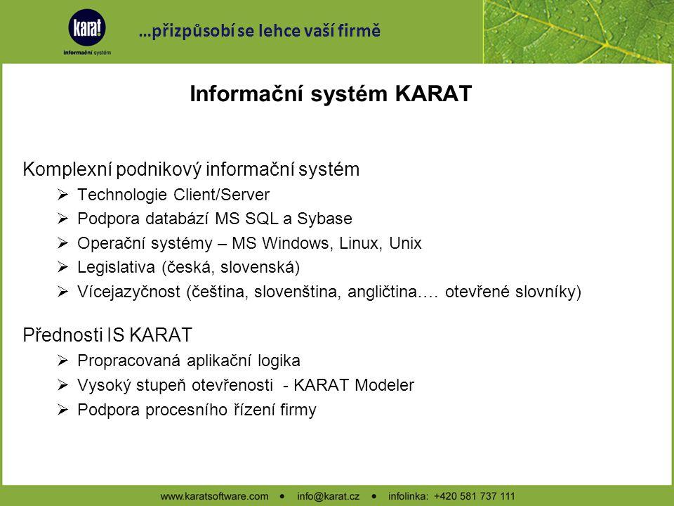 internet, intranet snadné ovládání UI otevřenost KARAT ICT technologie .