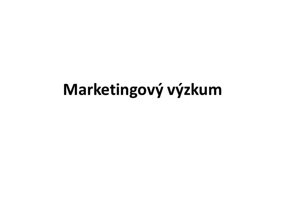 Kvalita manažerských rozhodnutí závisí na vstupních informacích Funkcí marketingového výzkumu je tyto informace zajistit v dostatečné kvalitě a v požadovaném množství Zajímají nás informace o podniku, zákaznících, konkurenci, trendech v makroprostředí, …