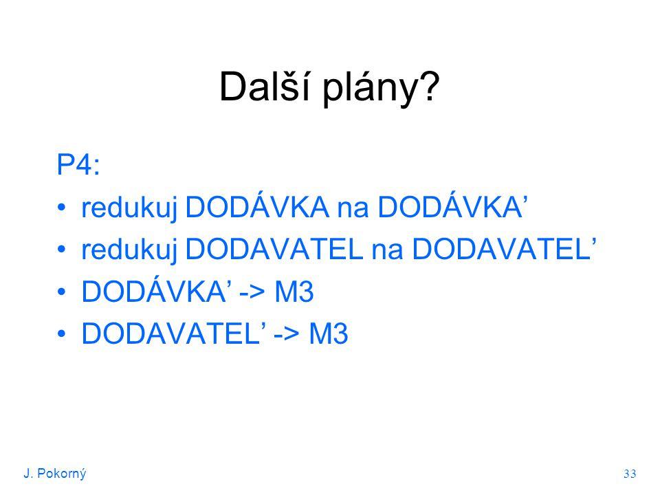 J.Pokorný 34 Další plány.