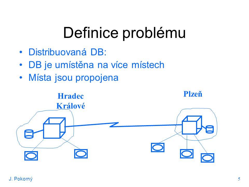 J.Pokorný 6 Definice problému Hradec Králové connect k HK; exec sql select * from ZAM;...