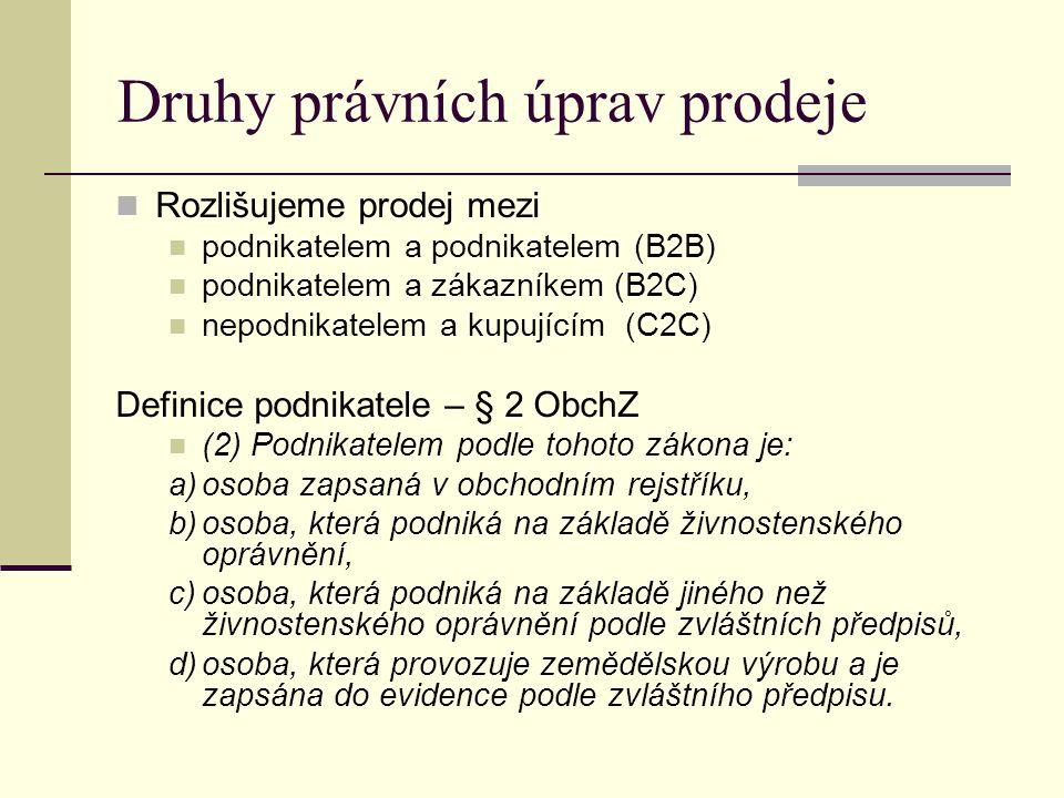 Obchodování podle obchodního zákoníku 3.