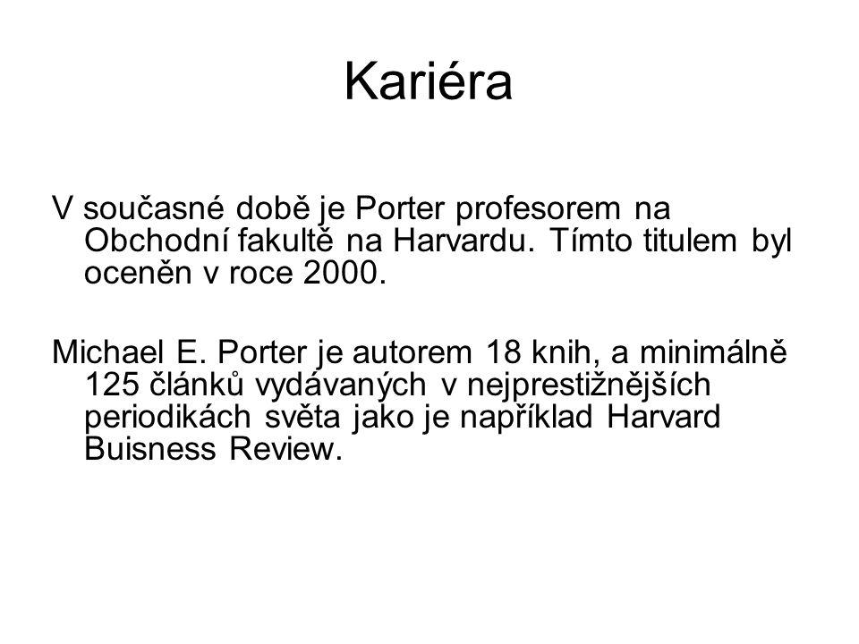 Kariéra Porter a poradenská činnost pro firmy např.: Caterpillar, Proctor & Gamble, Scotts Miracle-Gro, Royal Dutch Shell nebo Taiwan Fisher Scientific and Parametric Technology Corporation národní ekonomické strategie např.: Jižní Korea, Rwanda