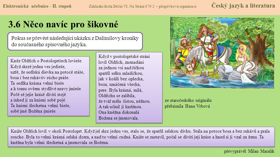 3.7 CLIL (Language families) Elektronická učebnice - II.