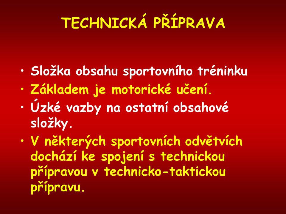 TECHNIKA I.skupina Jednoduchá technika, která přímo určuje úroveň výkonu.